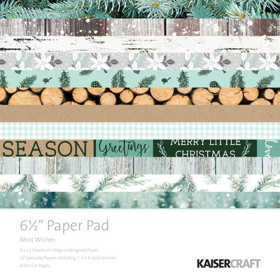 """Mint Wishes 6.5"""" Paper Pad"""