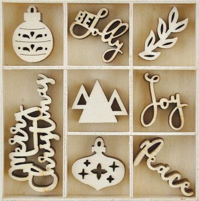 Jolly Christmas Wooden Flourish Pack