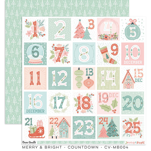 Countdown 12x12 Paper- Merry & Bright