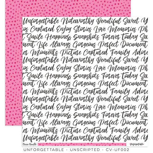 Unscripted 12x12 Paper- Cocoa Vanilla Studio