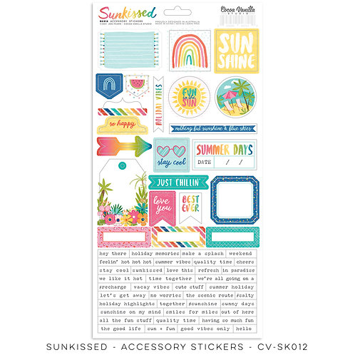 Sunkissed Accessory Stickers