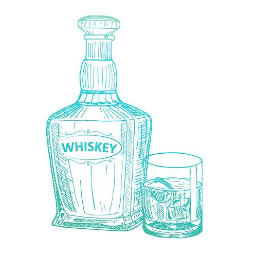 Whiskey Mini Stamp- Gentleman's Emporium