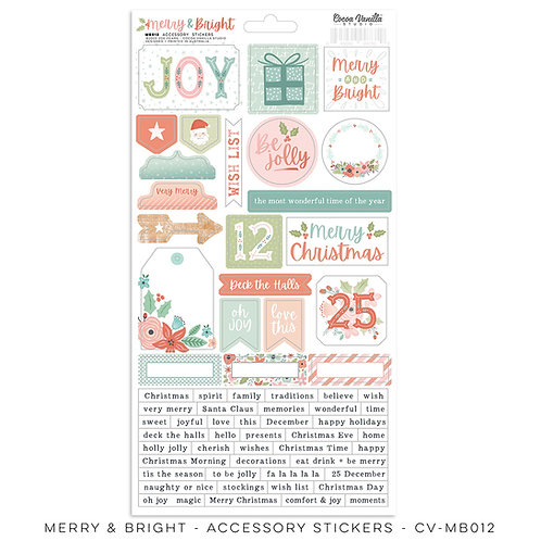 Merry & Bright Accessory Stickers