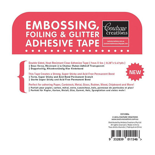 Embossing, Foiling & Glitter Adhesive Tape (Red Tape)