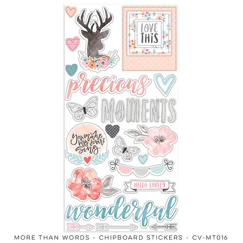 More Than Words- Chipboard Accent Stickers