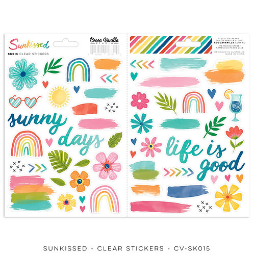 Sunkissed Clear Stickers