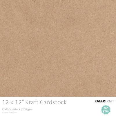 12 x 12 Kraft Cardstock