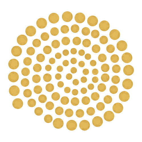 Gem Stones- Vintage Gold