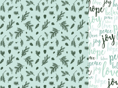 Mint Wishes- Spearmint 12 X 12 Paper