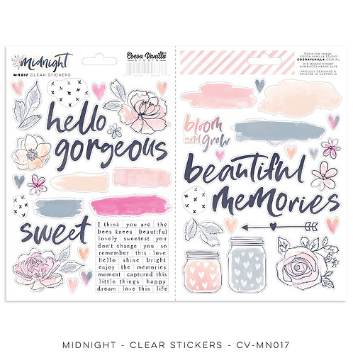 Midnight Clear Stickers