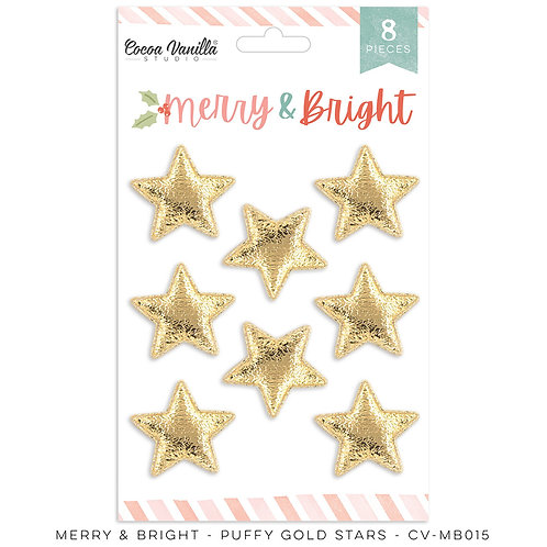 Merry & Bright Puffy Gold Stars