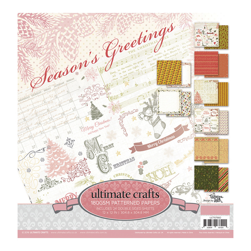 Season Greetings 12X12 Paper Pack