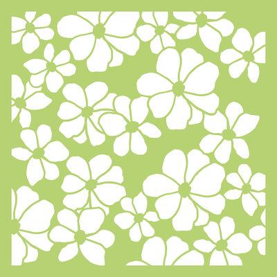 """6"""" X 6"""" Designer Template- Floral"""