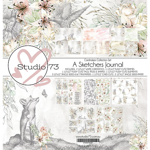Studio 73 A Sketchers Journal- Cardmakers Set