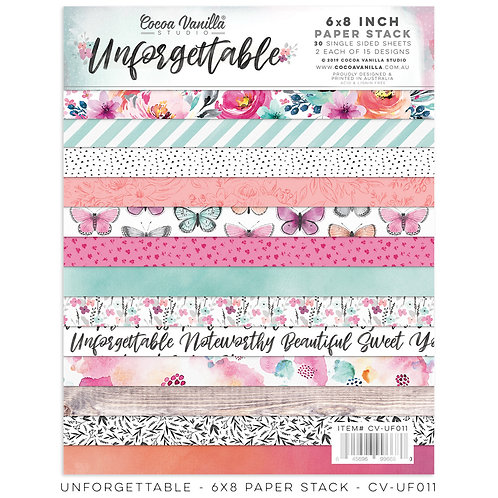 Unforgettable 6 x 8 Paper Pad