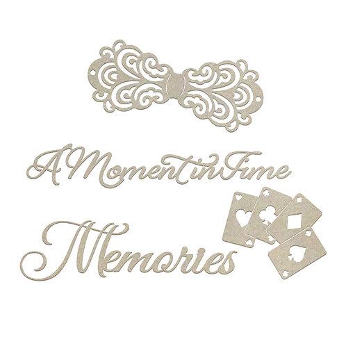 Moments And Memories Chipboard- Gentleman's Emporium