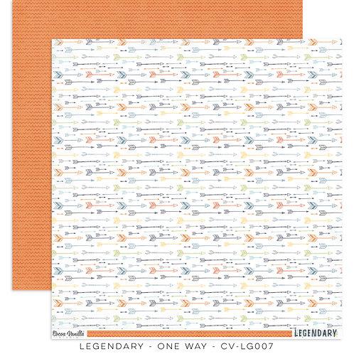 One Way- 12x12 Paper- Legendary Cocoa Vanilla Studios