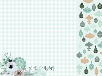 Mint Wishes- Flannelette 12 X 12 Paper