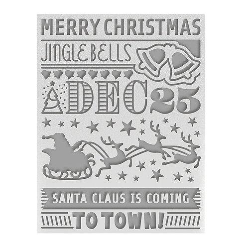 December 25 A2 Embossing Folder