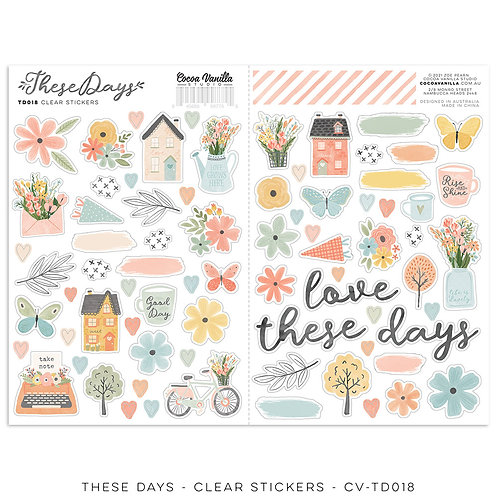 These Days Clear Stickers