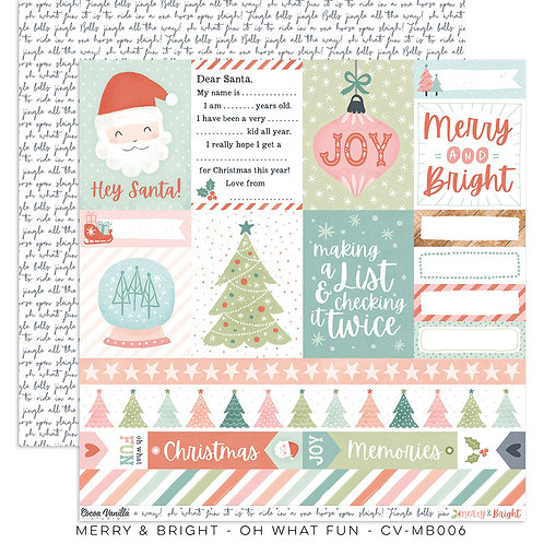 Oh What Fun 12x12 Paper- Merry & Bright