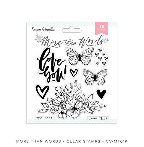 More Than Words- Clear Stamps