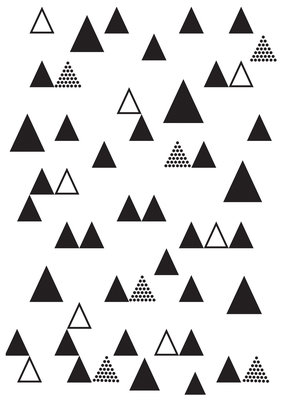 Embossing Folder- Triangle Trees