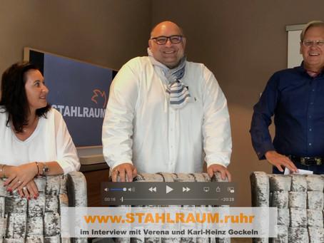 Interview mit den Inhabern von STAHRAUM.ruhr Verena und Karl-Heinz Gockeln.