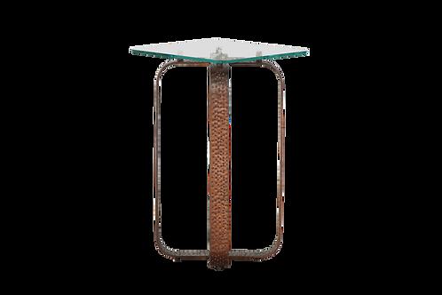 Kalmar Hammered Bronze Iron Accent Table