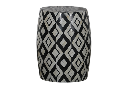 Aza Bone Inlay Accent Table