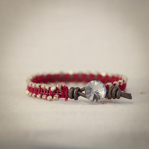 Leather MicroGem Woven Bracelet 5