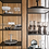 Thumbnail: Londyn 5 Shelf Iron Shelving Unit