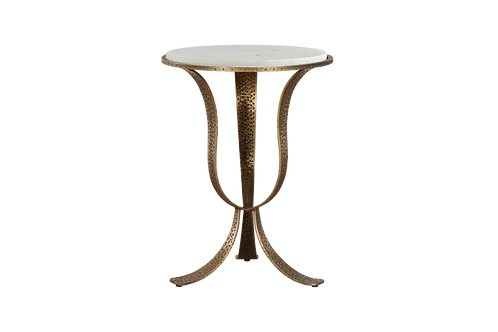 Porto Hammered Iron Antique Copper Accent Table