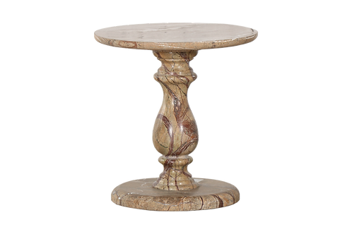 Paloma Solid Marble Short Side Accent Table