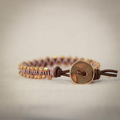 Leather MicroGem Woven Bracelet 4
