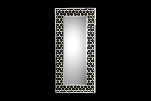 Honeycomb Bone Inlay Floor Mirror