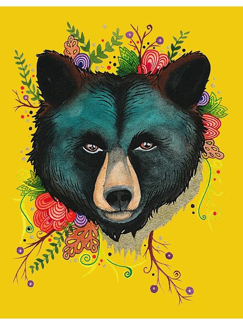 8x10 Art Print: Fiesta Bear