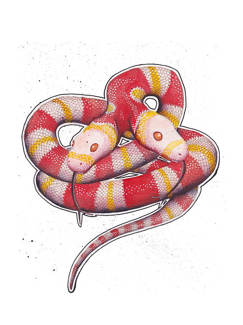 Art Print: Twin Hissters (choose size)