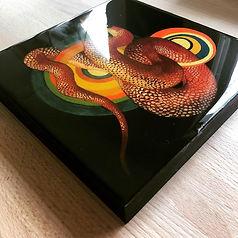 custom painting, snake painting