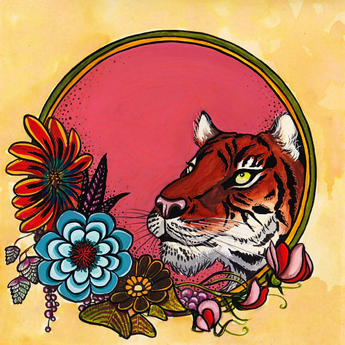 Art Print: Tiger Bloom (choose size)