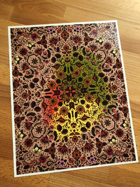 Art print: Fall pattern (choose size)