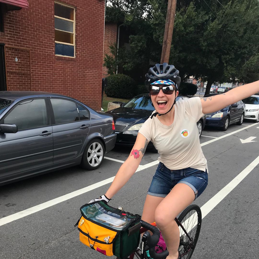 Find me on a bike.