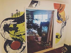 home mural, snake mural