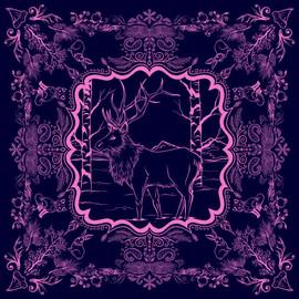 Winter Elk Bandana Design