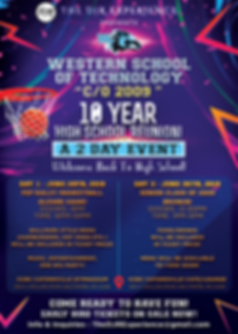 High School Reunion Official Flyer (WSTE