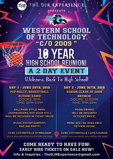 High School Reunion Official Flyer (WSTE