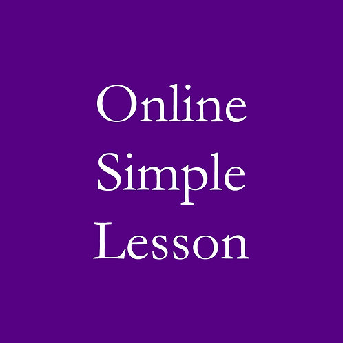 Online Simple Lesson