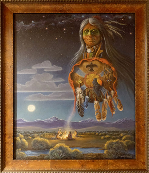 Guardian of the Night Framed 19 x 23 $22