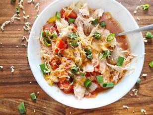 Crockpot Chicken No-Tortilla Soup
