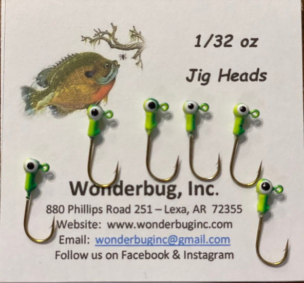 Jig Heads - Chartreuse/Green
